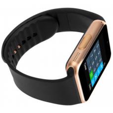 Ceas smartwatch cu telefon, bluetooth, camera, gold