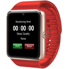 Ceas smartwatch cu telefon, bluetooth, camera, rosu